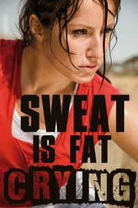 Sweat if fat crying